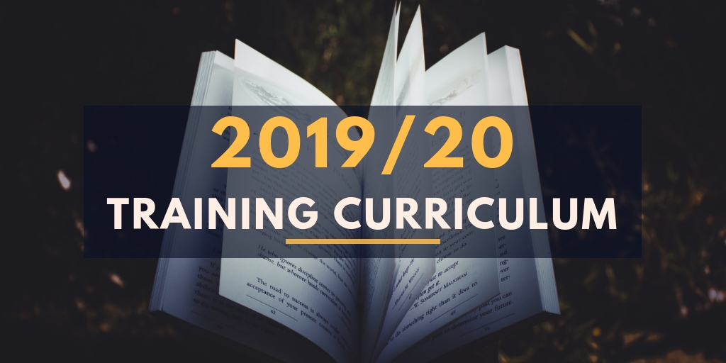 2019/20 Training Curriculum