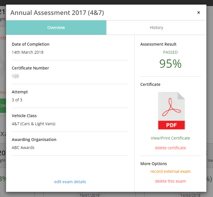 dvsa annual assessment detailed overview