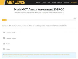 mot juice mock exam for 2019-20