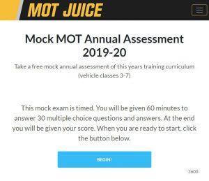 Mock MOT Annual Assessment
