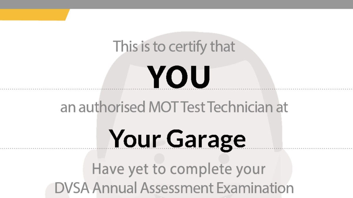 Get your DVSA annual MOT tester exams online now
