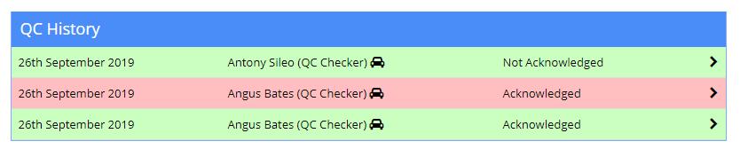QC Check History