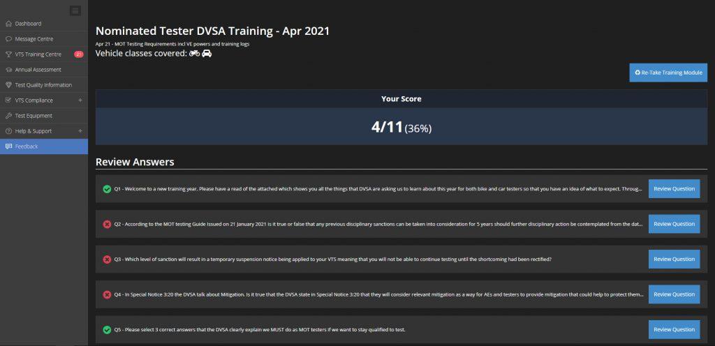 mot juice training module review